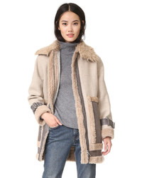Shearling mixed coat medium 802230