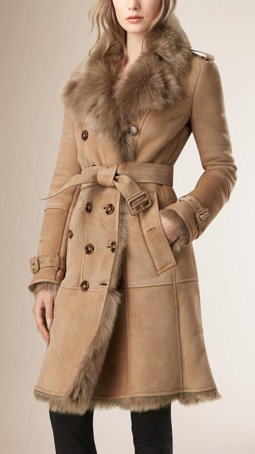 Burberry Shearling Trench Coat | Where to buy & how to wear