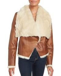 Bagatelle Faux Shearling Foldover Lapel Jacket