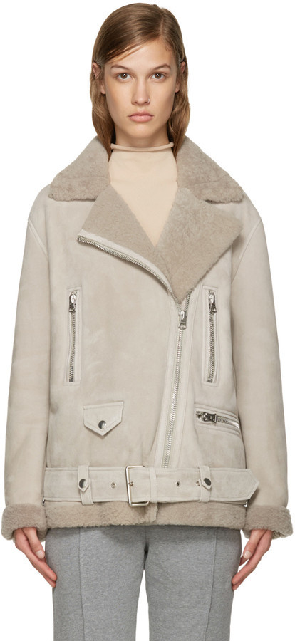 Acne Studios Beige Shearling More Jacket