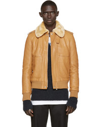 Maison Margiela Brown Lambskin Jacket