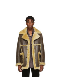 Schott Brown Shearling Jacket