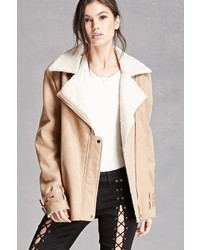 Forever 21 Faux Suede Zip Moto Jacket