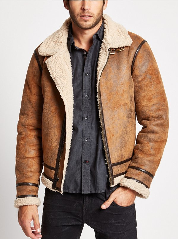 GUESS Railroad Faux Shearling Jacket | Where to buy &amp how to wear