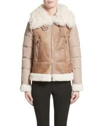 Moncler Kilia Genuine Shearling Down Puffer Jacket