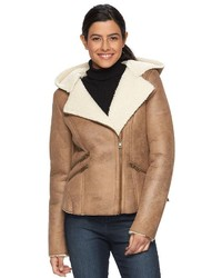 Levi's Hooded Faux Shearling Jacket