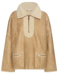 Chloé Shearling Lined Bomber Jacket