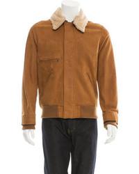 Billy Reid Shearling Zip Up Jacket