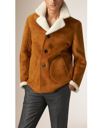 Burberry Suede And Shearling Donkey Jacket