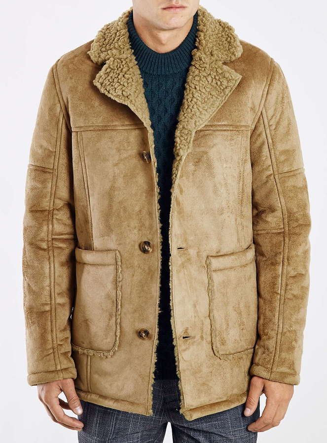 Topman Camel Faux Shearling Jacket | Where to buy & how to wear