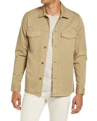 Nn07 Berner 1004 Stretch Button Up Overshirt