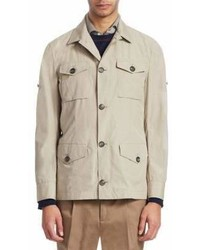 Brunello Cucinelli Cotton Safari Shirt Jacket