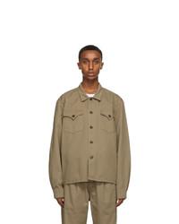 DOUBLE RAINBOUU Khaki Jungle Shirt