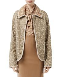 Burberry Monogram Quilted Silk Jacket