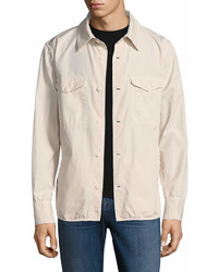 Save Khaki Multi Pocket Shirt Jacket