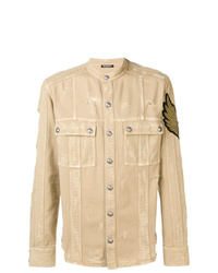 Balmain Overshirt Distressed Jacket