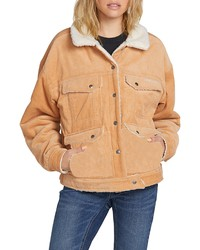 Volcom Woodstone Reversible Corduroy Fleece Jacket