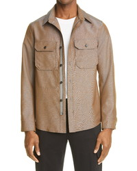 Ermenegildo Zegna Wool Mohair Shirt Jacket