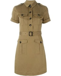Burberry Brit Belted Military Shirt Dress