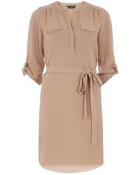 Dorothy Perkins Camel D Ring Shirt Dress