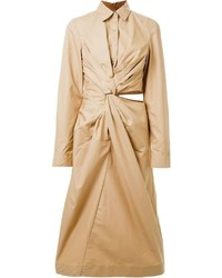 Jil sander twist detail shirt dress medium 558848
