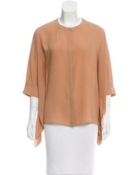 Tan short sleeve blouse original 10284207