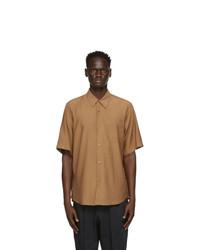 AMI Alexandre Mattiussi Beige Summer Fit Short Sleeve Shirt