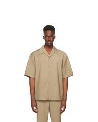 LE17SEPTEMBRE Beige Woven Wool Shirt