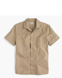J.Crew Short Sleeve Camp Collar Shirt In Broken In Chino