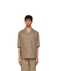 Lemaire Taupe Cotton Short Sleeve Shirt