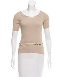 Belted silk sweater medium 6793077