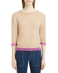 Chloé Chloe Fringe Edge Cashmere Sweater