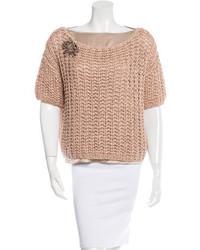 Brunello Cucinelli Embellished Crochet Sweater