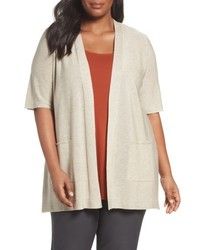 Plus size simple tencel merino wool cardigan medium 5035340