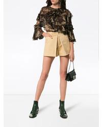 Chloé Beige Darted High Waisted Shorts