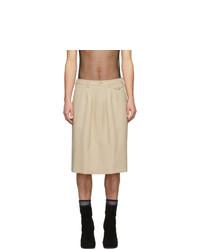 Random Identities Beige Officer Skirt Shorts