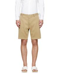 Beige ribbed pastoral shorts medium 606414