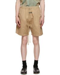 Fear Of God Beige Trouser Shorts