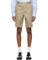 Thom Browne Beige Twill Unconstructed Chino Shorts