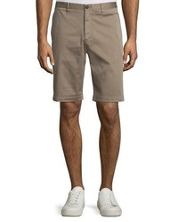 Theory Brucer Greely Flat Front Shorts Beige