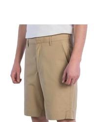 Corbin Cotton Poplin Shorts Tan