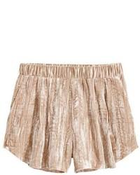 H&M Crushed Velvet Shorts