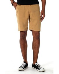 Filthy Etiquette Flat Front Shorts In Khaki