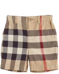 Burberry Sean Cotton Check Shorts Tan Size 3m 3