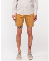 General Assembly Sun Washed Shorts In Khaki