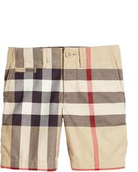 Burberry Tristen Classic Check Shorts Tan Size 4 14