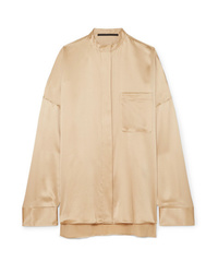 Haider Ackermann Oversized Silk Charmeuse Shirt