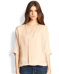 Marru pleated silk blouse medium 75979