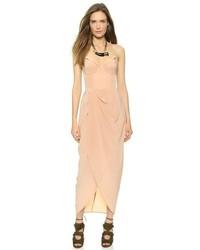 Silk draped maxi dress medium 127368