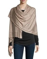 Rania swarovski crystal cashmere silk scarf taupe medium 693772